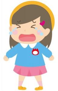 泣く園児のイラスト