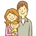 子どもを抱く両親