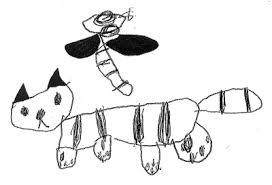 子どもが描いたネコの絵