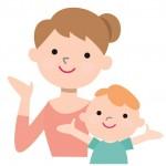 子どもと保育士のイラスト