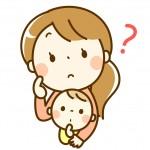 考え込む保育士と赤ちゃん