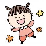 楽しそうに笑う保育園児の女の子