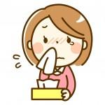 鼻水が止まらない女性のイラスト