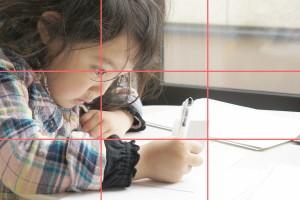 子どもの写真の構図